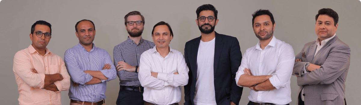 Sarmayacar founder Rabeel Warraich with Bykea Team